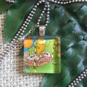Lorax necklace - Dr. Seuss